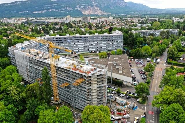 Vue aérienne des immeubles
