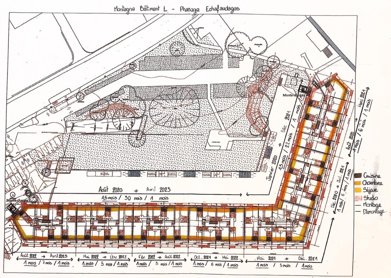 Plan du bâtiment L